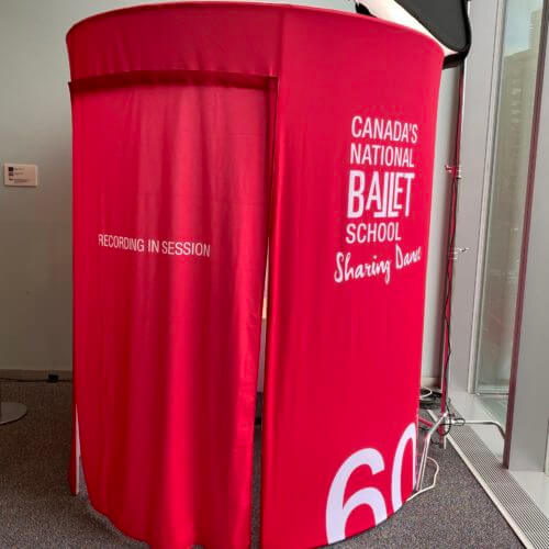 Animated GIF Booth Confessional Interview Video Booth with Enclosure