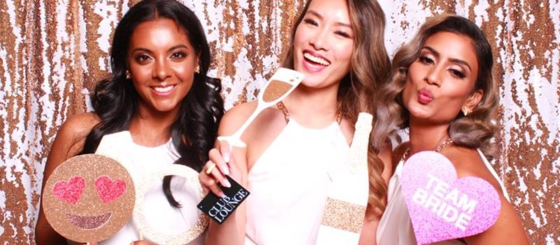 Mermaid Sequin Gold White Wedding Toronto Photo Booth Background